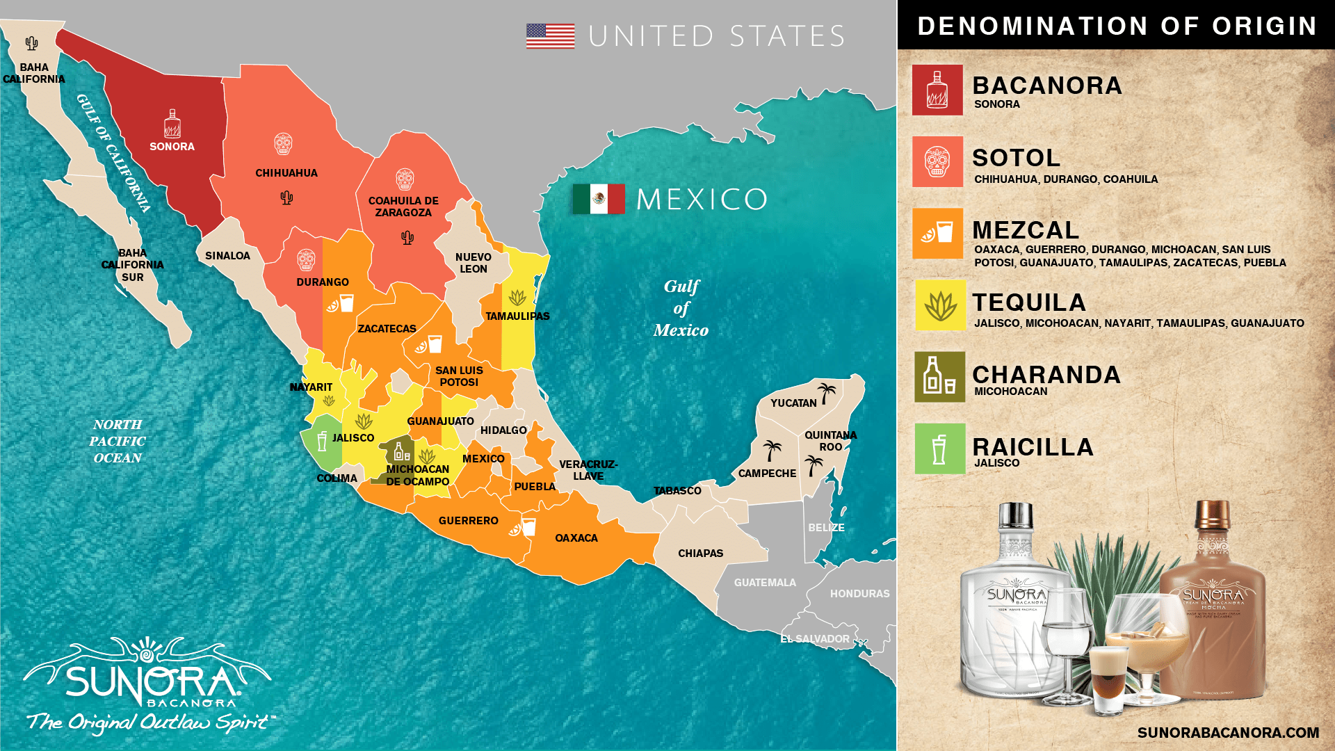 Mezcal Map of Mexico