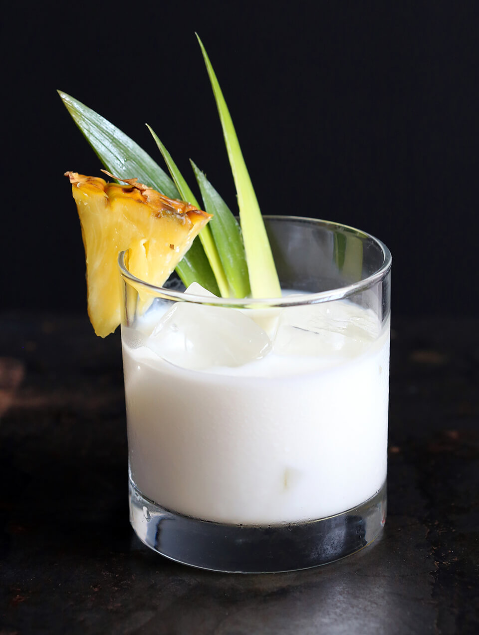 Pineapple Colada on the Rocks Cocktail