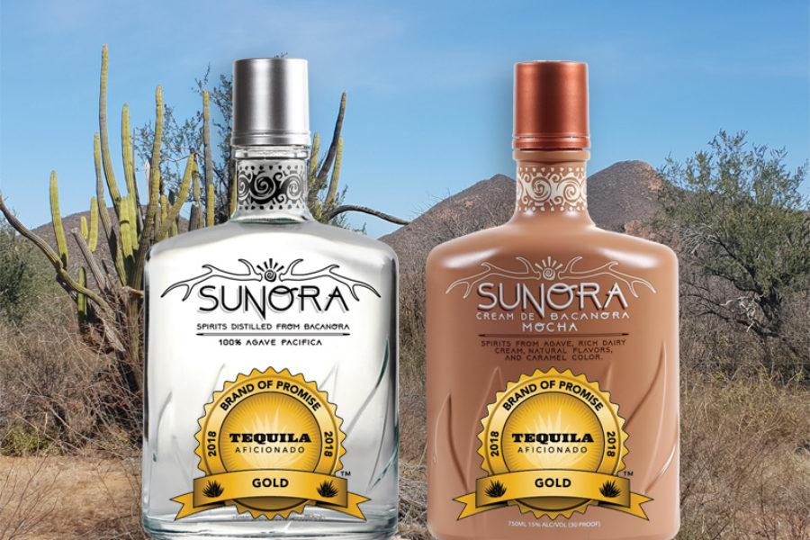 Sunora Bacanora Blanco & Sunora Cream De Bacanora Mocha Receive GOLD from Tequila Aficionado
