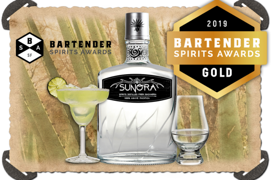 Sunora Bacanora Blanco wins GOLD at The Bartender Spirits Awards 2019!