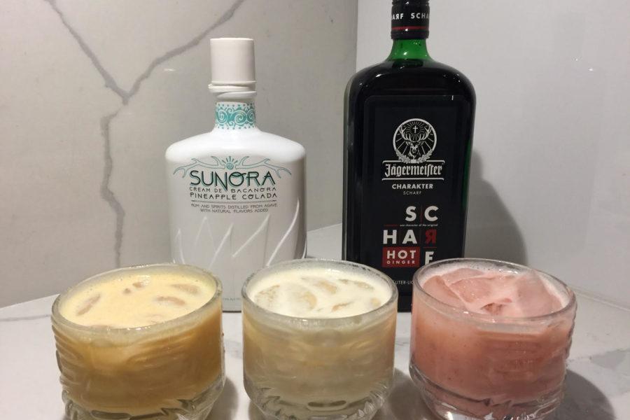 Sunora Cream De Bacanora Pineapple Colada & Jägermeister SCHARF Cocktails!