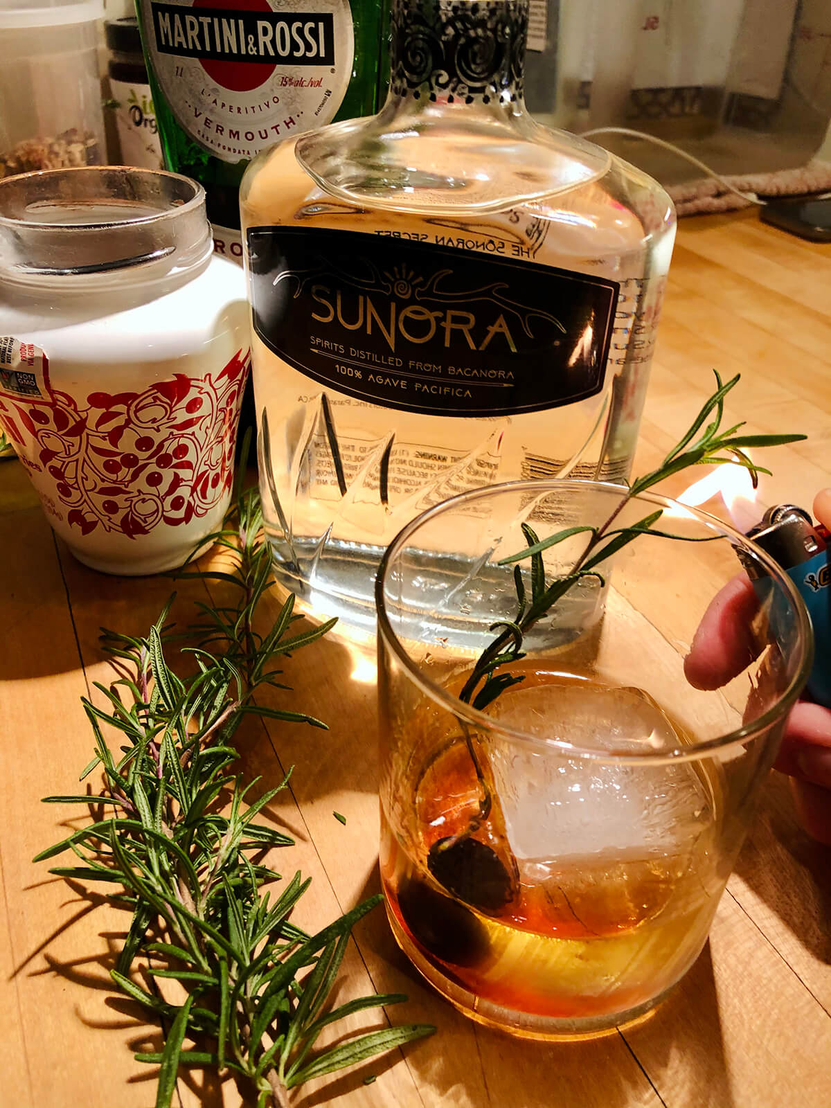 The Sunora Smokin' Herb Cocktail